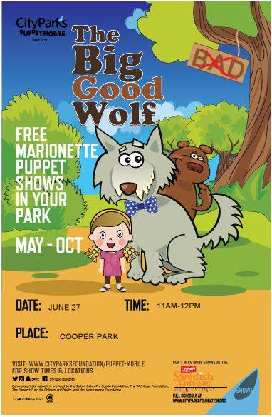 The Big Good Wolf at Cooper Park